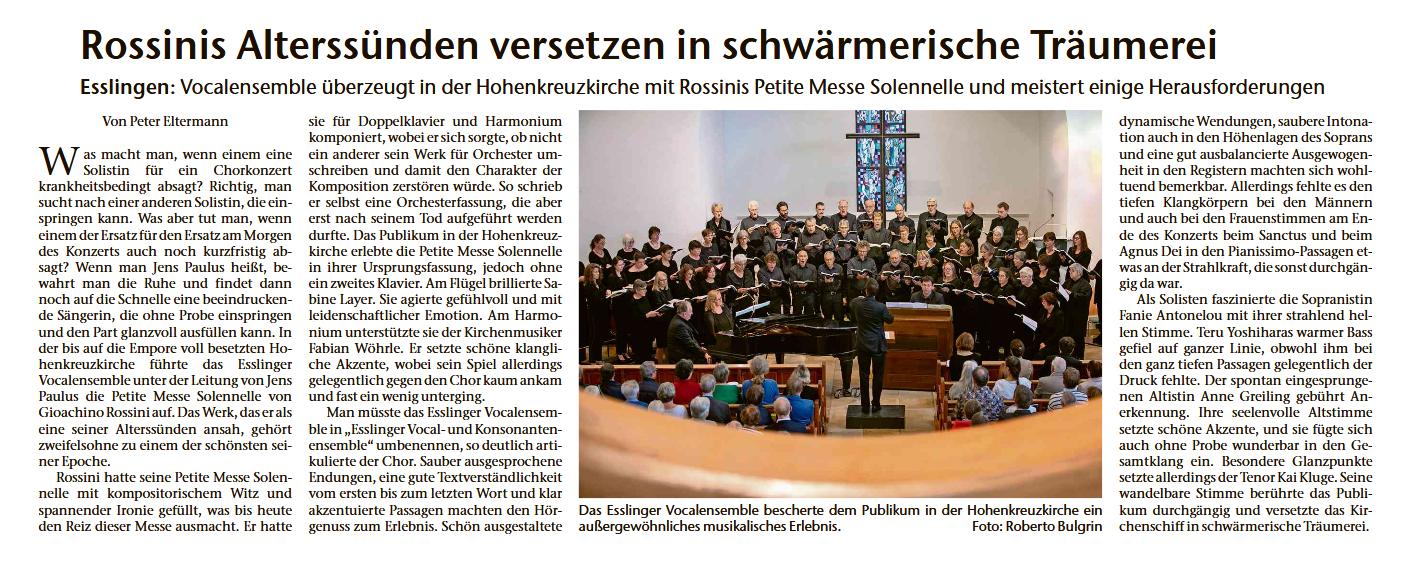Vocalensemble Singt Rossini